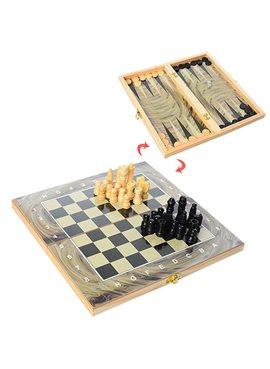 Шахматы 28A 3в1(шашки,нарды), в кульке, 27,5-14-3,5см