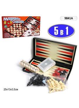 """Шахматы магнит. 9841A""""5в1"""""""