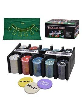 Настольная игра 3896B Покер, фишки, карты-2 колоды,сукно