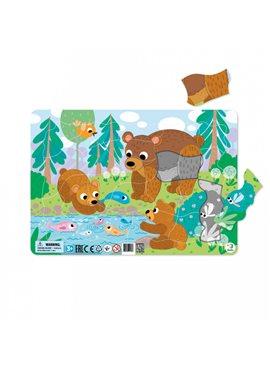 """Пазл с рамкой DoDo """"Медвежата"""" R300221"""