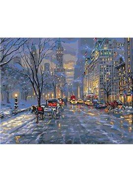 """Картина по номерам. Городской пейзаж """"Краски ночного города"""" 40*50см KHO3537"""