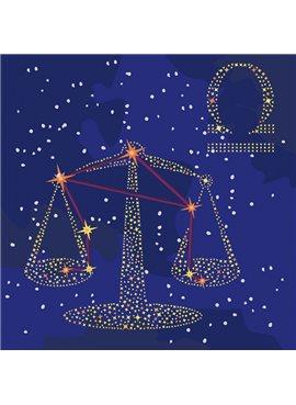 """Картина по номерам - """"Звездный знак Весы"""" с краской металлик 50*50см KH9503"""