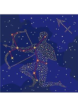 """Картина по номерам. Звездный знак """"Стрелец"""" с краской металлик 50*50см KH9511"""