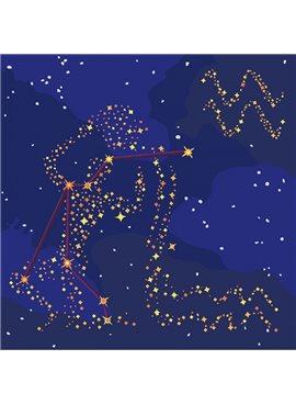 """Картина по номерам. Звездный знак """"Водолей"""" с краской металлик 50*50см KH9509"""