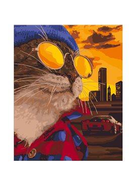"""Картина по номерам. """"Дерзкий кот"""" 40*50см KHO4127"""