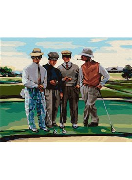 """Картина по номерам. Brushme """"Партия в гольф"""" GX29723"""