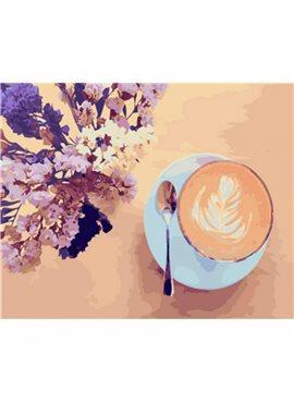 "Картина по номерам. Brushme ""Лавандовый кофе"" GX22206"