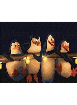 "Картина по номерам. Brushme ""Пингвины Мадагаскара"" GX22148"