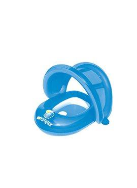 BW Плотик 34091(Blue) Синий с надувной защитой от солнца, 80-85 см