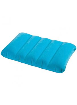 Подушка 68676(Blue) Голубая надувная,43-28-9см,водооталк.поверх,в кор-ке,19-13-4см
