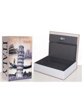 Книга-сейф MK 1847-1 (Eiffel Tower) с замком, металл, микс видов, в кульке, 26,5-20-6,5см