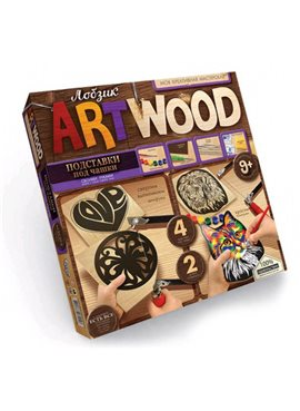 "Комплект креативного творчества ""ARTWOOD"" подставки под чашки 5930 Danko Toys"