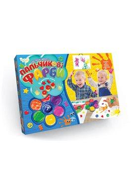 """Пальчиковые краски """"Моя перша творчість"""" 6819DT Danko Toys"""