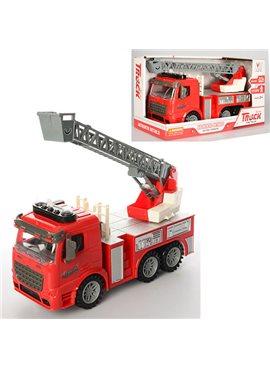 Пожарная машина с лестницей со светом и звуком 98-616AUt          Same Toy