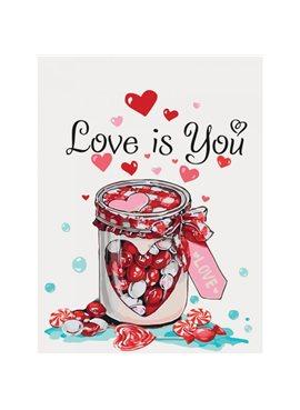 "Картина по номерам. Натюрморт ""Love is you"" 30*40см * KHO5526 Идейка"