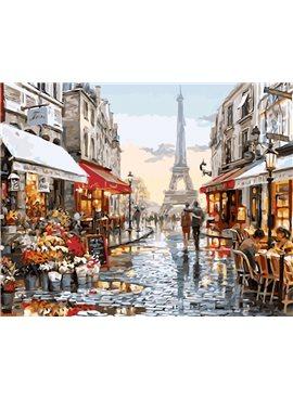 "Картина по номерам. Brushme "" Париж после дождя "" GX8090 40*50"