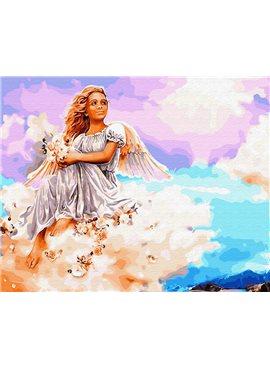 "Картина по номерам. Brushme ""Ангел на облаке"" GX29953 40*50"