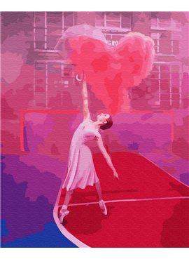 """Картина по номерам. Brushme """"Балерина с воздушным седцем"""" GX24877 40*50"""