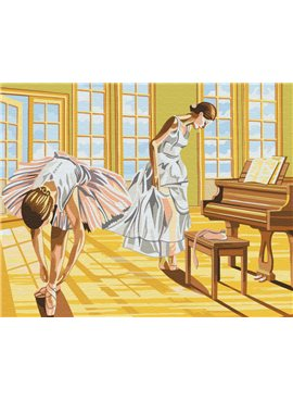 "Картина по номерам. Brushme ""Балерины на разминке"" GX8517 40*50"