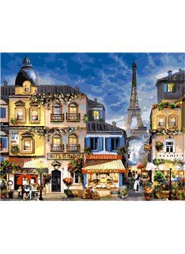 """Картина по номерам. Brushme """"Блистательный Париж"""" GX3241 40*50"""