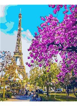 """Картина по номерам. Brushme """"В центре Парижа"""" GX3777 40*50"""