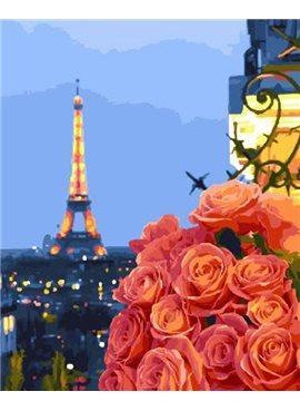"""Картина по номерам. Brushme """"Вечер в Париже"""" GX28440 40*50"""