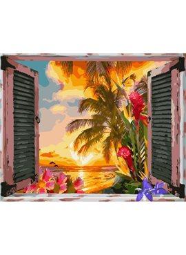"Картина по номерам. Brushme ""Вид из окна на океан Мексики"" GX25623 40*50"