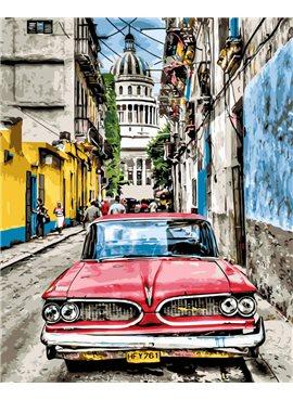 """Картина по номерам. Brushme """"Винтажное авто в старой Гаване"""" GX8934 40*50"""