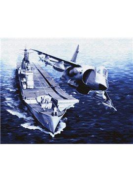"Картина по номерам. Brushme ""Корабль и самолет"" GX30209 40*50"