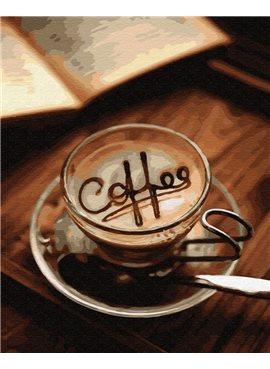 """Картина по номерам. Brushme """"Кофе в чашке"""" GX29736 40*50"""