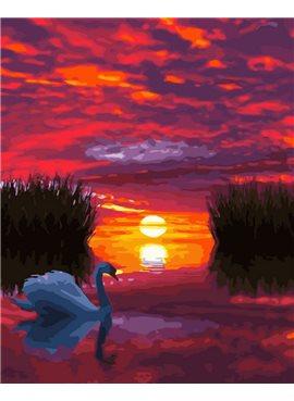 "Картина по номерам. Brushme ""Лебедь на закате"" GX29423 40*50"
