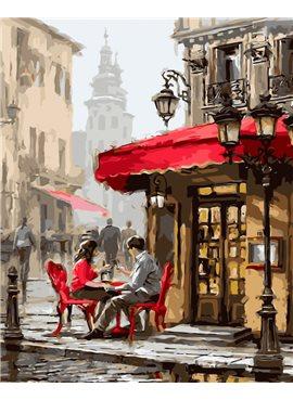 "Картина по номерам. Brushme ""Лондонское кафе"" GX8089 40*50"