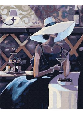 "Картина по номерам. Brushme ""Незнакомка с мартини"" GX29718 40*50"