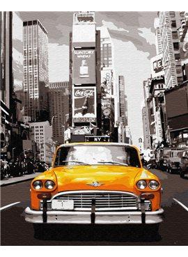 "Картина по номерам. Brushme ""Нью-Йоркское такси"" GX8241 40*50"