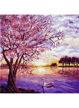 """Картина по номерам """"Закат в розовых тонах"""" 40*40 см AS0228 ArtStory"""