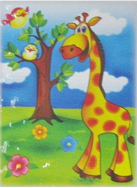 """Раскраска по номерам для детей """"Веселый жирафчик"""" 18*24 см 7100 Идейка"""