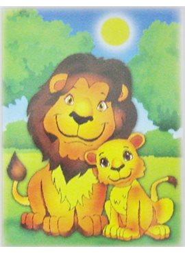 """Раскраска по номерам для детей """"Львята"""" 18*24 см 7102 Идейка"""