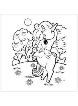 """Раскраска по номерам для детей """"Сказочная лошадка"""" 18*24 см 7104 Идейка"""