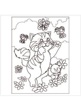 """Раскраска по номерам для детей """"Кошки мышки"""" 18*24 см 7105 Идейка"""