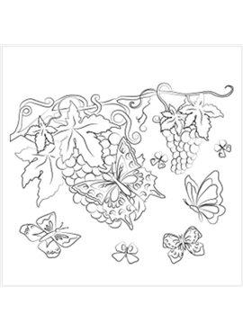 """Раскраска по номерам для детей """"Бархатные бабочки"""" 25*30 см 7106 Идейка"""
