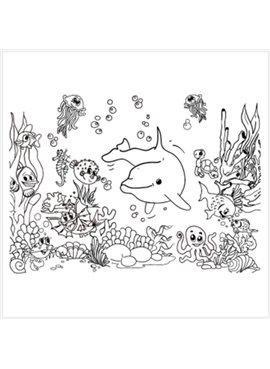 """Раскраска по номерам для детей """"Подводный мир"""" 25*35 см 7115 Идейка"""