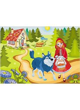 """Раскраска по номерам для детей """"Красная шапочка"""" 25*35 см 7126 Идейка"""