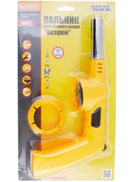 Горелка для газового балона с ручкой, пьезоподжиг Везувий, керамическая защита, 1400*С MasterTool 44-5037