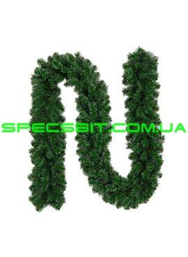 Гирлянда ПВХ зеленая Диаметр 26см Длина 2м