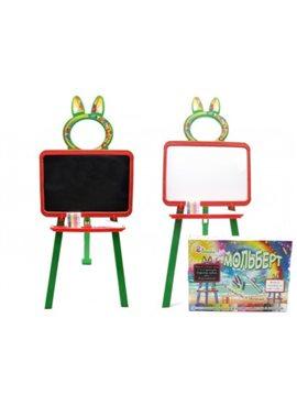 Доска для рисования магнитная 013777/3 Оранжево-зелёная DOLONI TOYS 013777/3