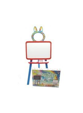 Доска для рисования магнитная 013777/7 Оранжево-голубая DOLONI TOYS 013777/7
