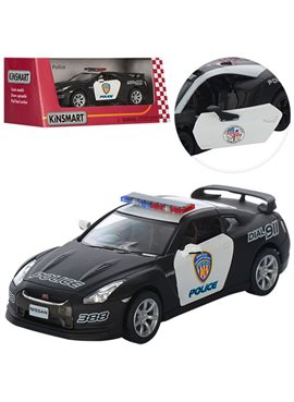 Машинка KT5340WP Nissan GT-R (Police) KT5340WP
