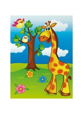 """Роспись по холсту. """"Весёлый жирафик"""" 18*24 7100/1 Идейка 7100/1"""