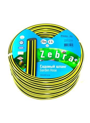 Шланг поливочный Presto-PS садовый Зебра диаметр 3/4 дюйма, длина 50 м (ZB 3/4 50)