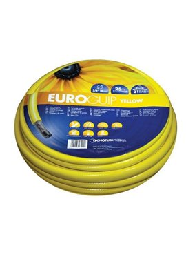 Шланг садовый Tecnotubi Euro Guip Yellow для полива диаметр 5/8 дюйма, длина 25 м (EGY 5/8 25)